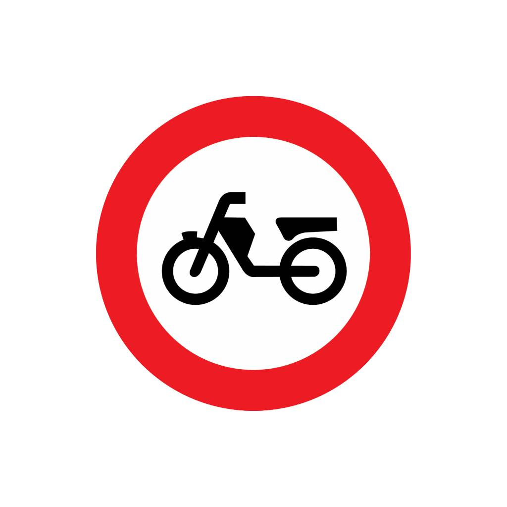 Closed for moped / mopeds, disabled vehicles