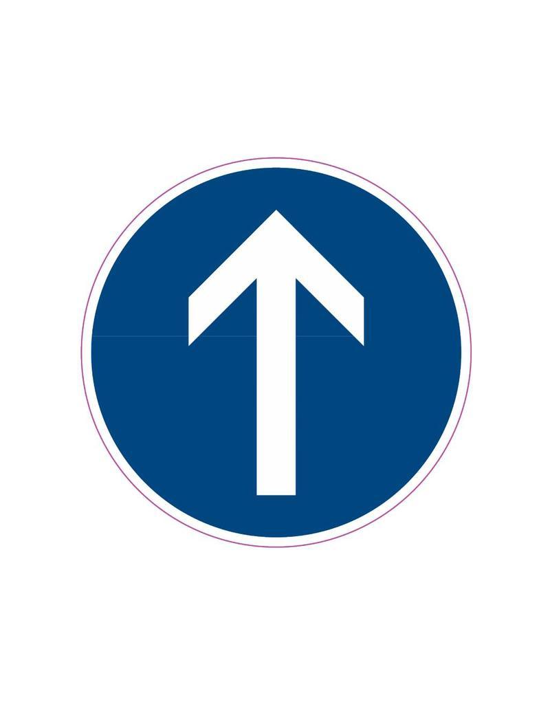 Vorgeschriebene Fahrtrichtung - geradeaus