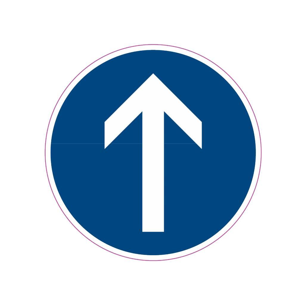 Straight ahead Sticker