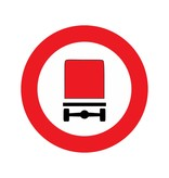 Closed to vehicles carrying dangerous goods