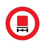Fermé aux véhicules transportant des marchandises dangereuses