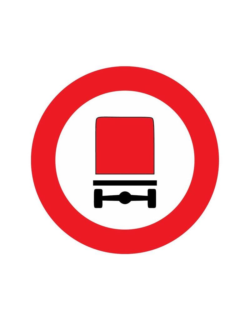 Gesloten voor voertuigen met gevaarlijke stoffen