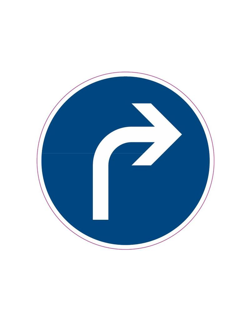 Curve to right Sticker