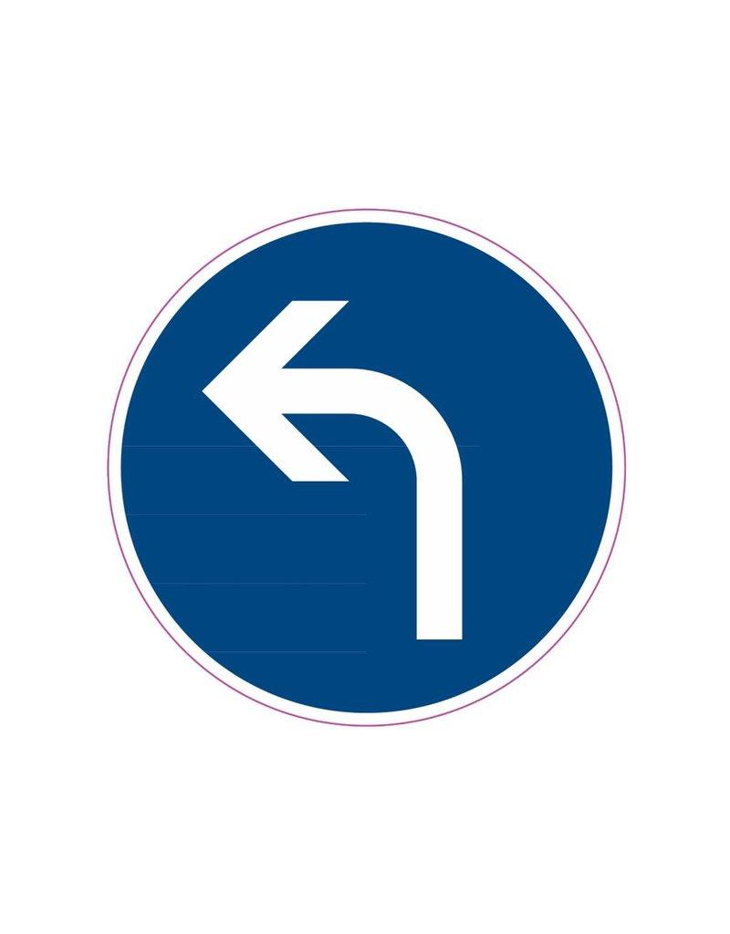 Virage à gauche autocollant