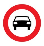 Closed to motor vehicles with more than two wheels