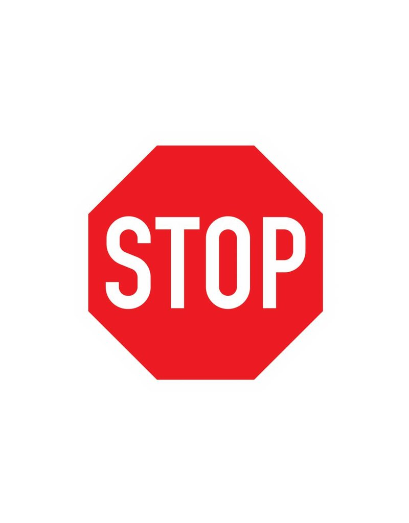 STOP Sign Sticker