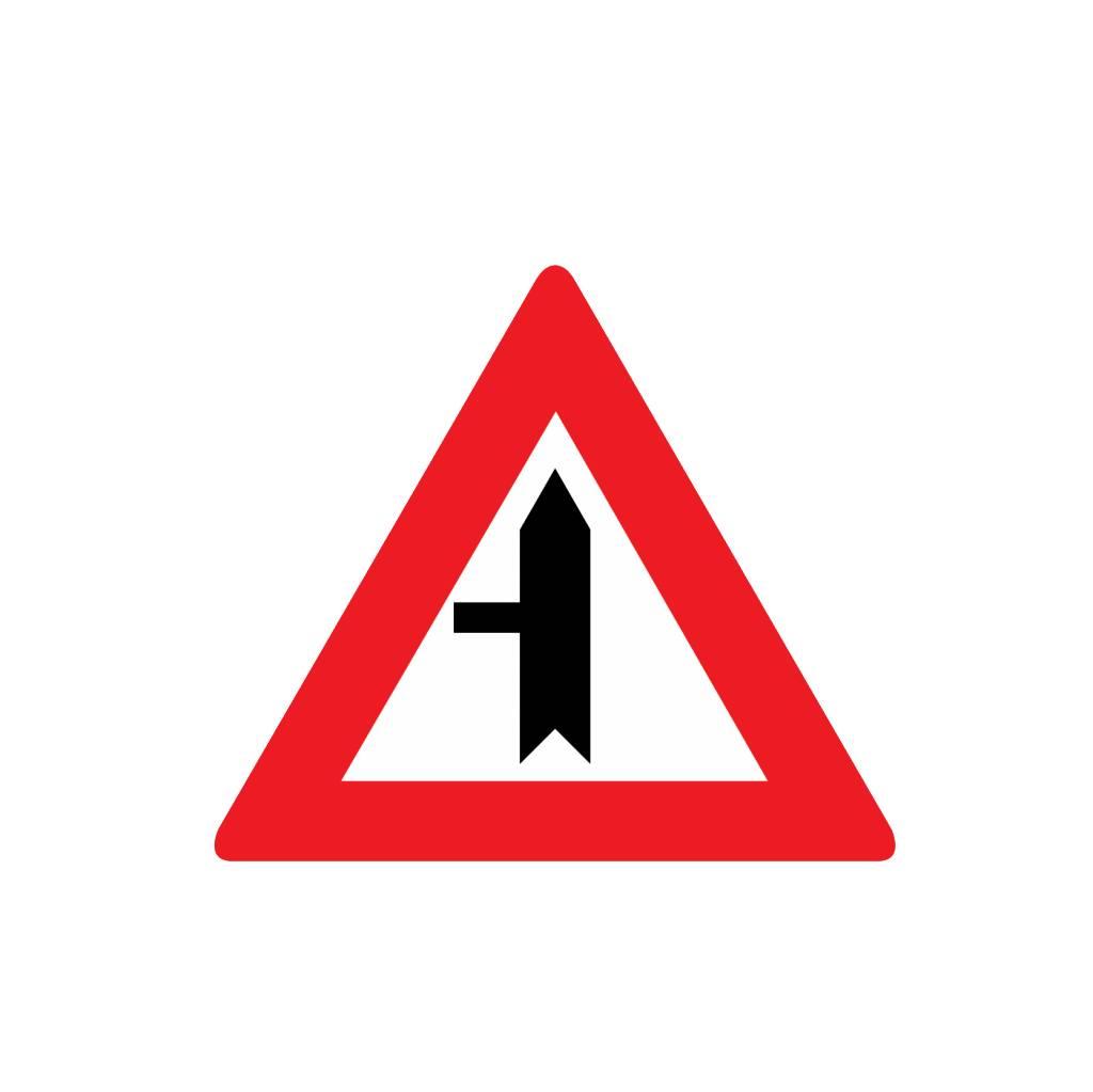 Route façon d'intersection de la gauche