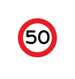 Maximumsnelheid 50 km Sticker