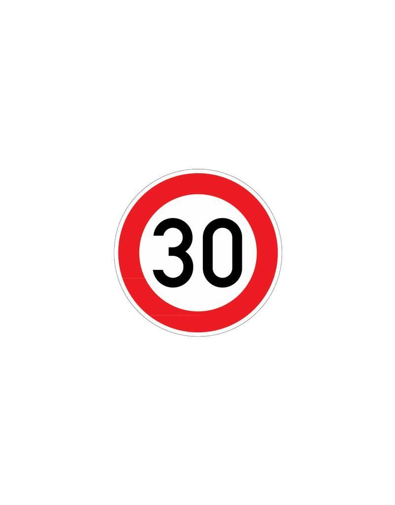 Limite de vitesse 30 km autocollant