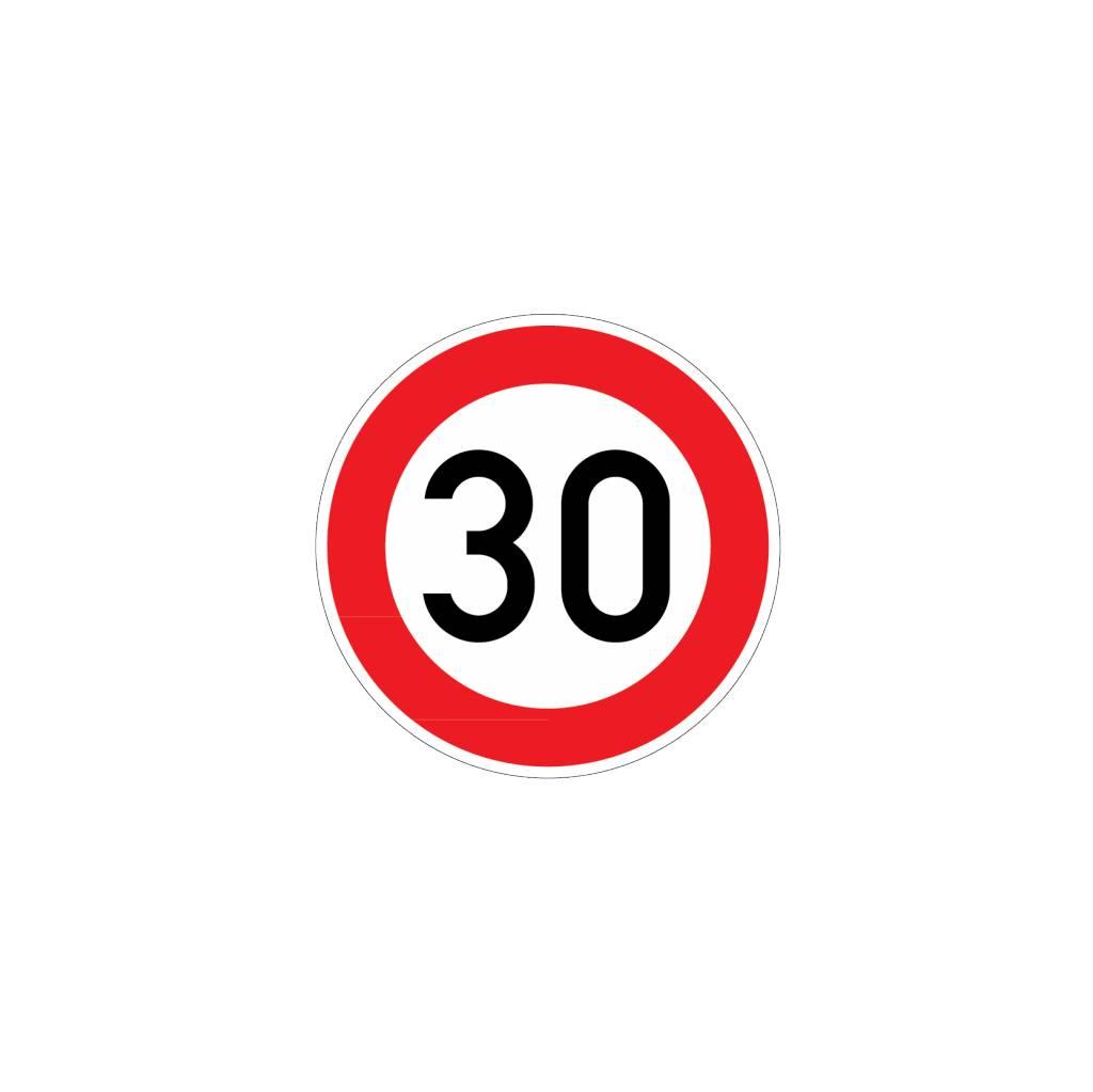 Höchstgeschwindigkeit 30 km Aufkleber
