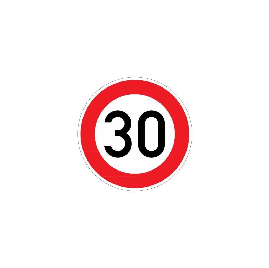 Max Speed 30 Km Dr Sticker