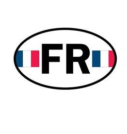 Französische Flagge Sticker