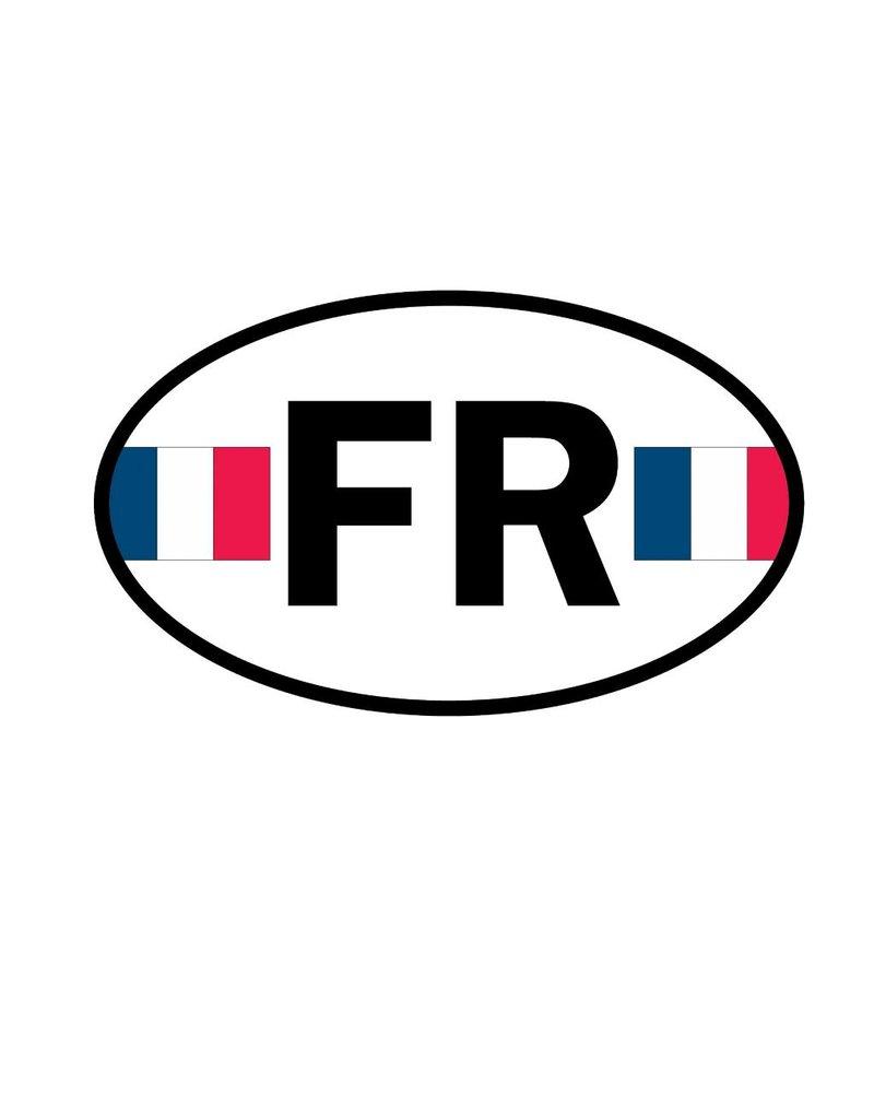 Autocollant drapeau français