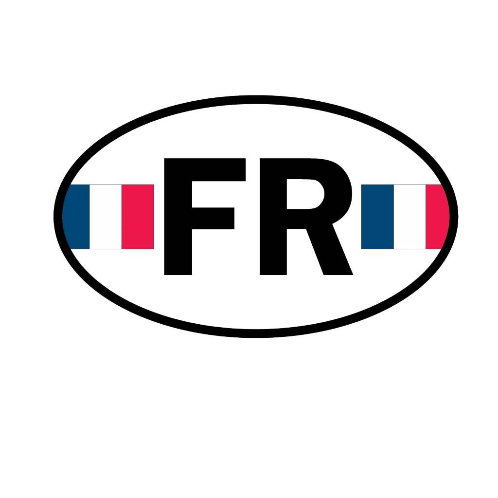 Pegatina bandera Francia