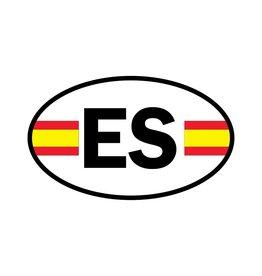 Autocollant drapeau espagnol
