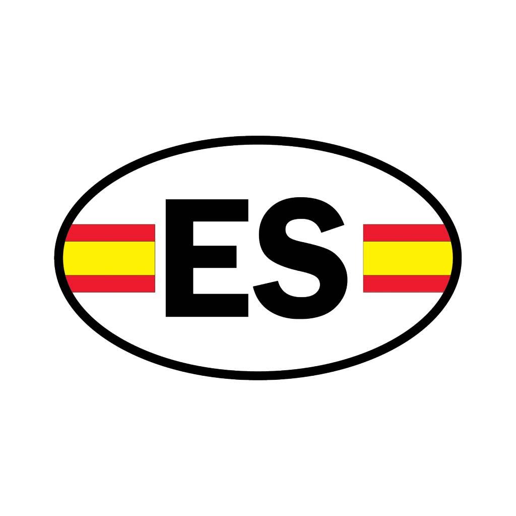 Spanje vlag sticker