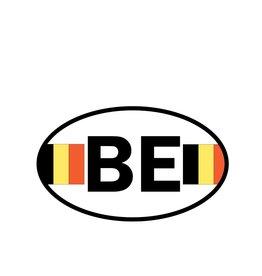 Autocollant drapeau belge