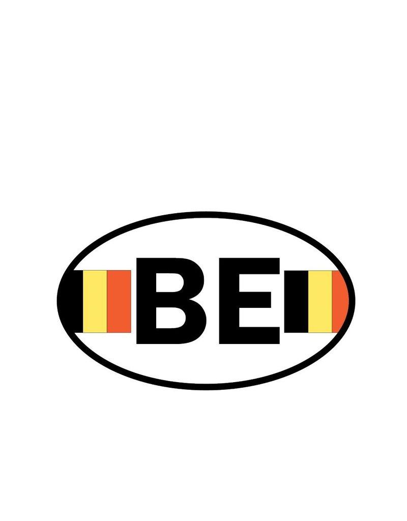 Pegatina bandera Belgica