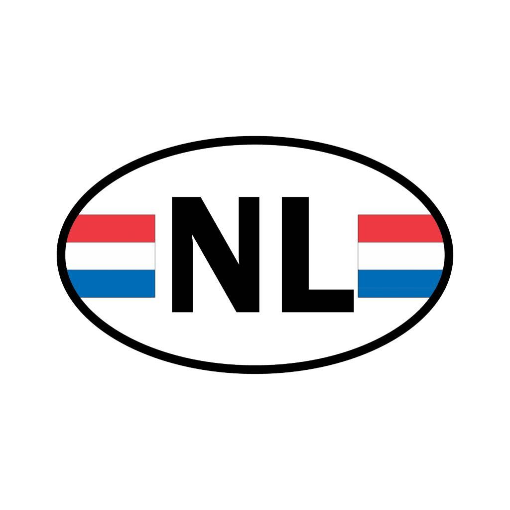 Nederland vlag sticker