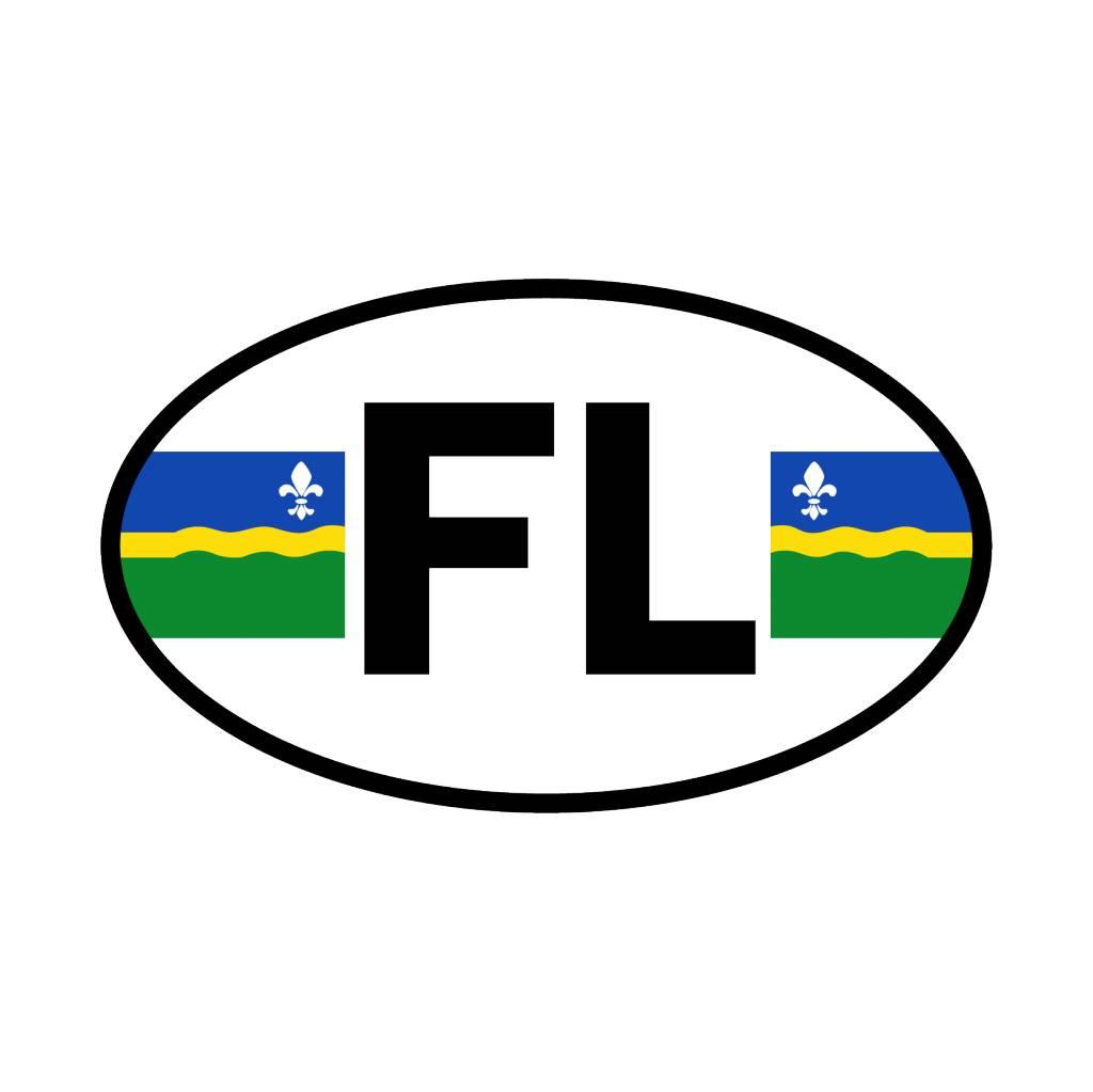Flevoland autocollant département