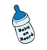 Bébé à bord bottle garçon