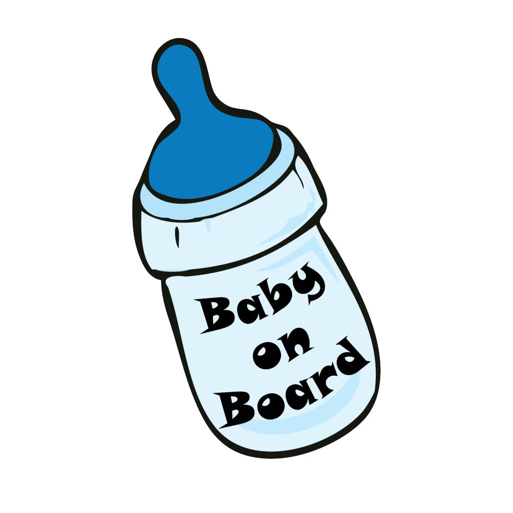Baby on Board bottle jongen