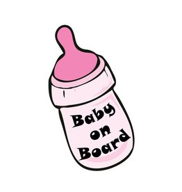 Baby on Board bottle girl