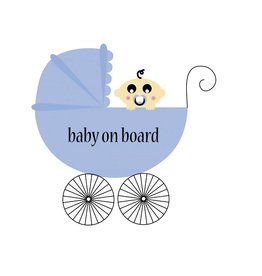 Baby on Board square pram