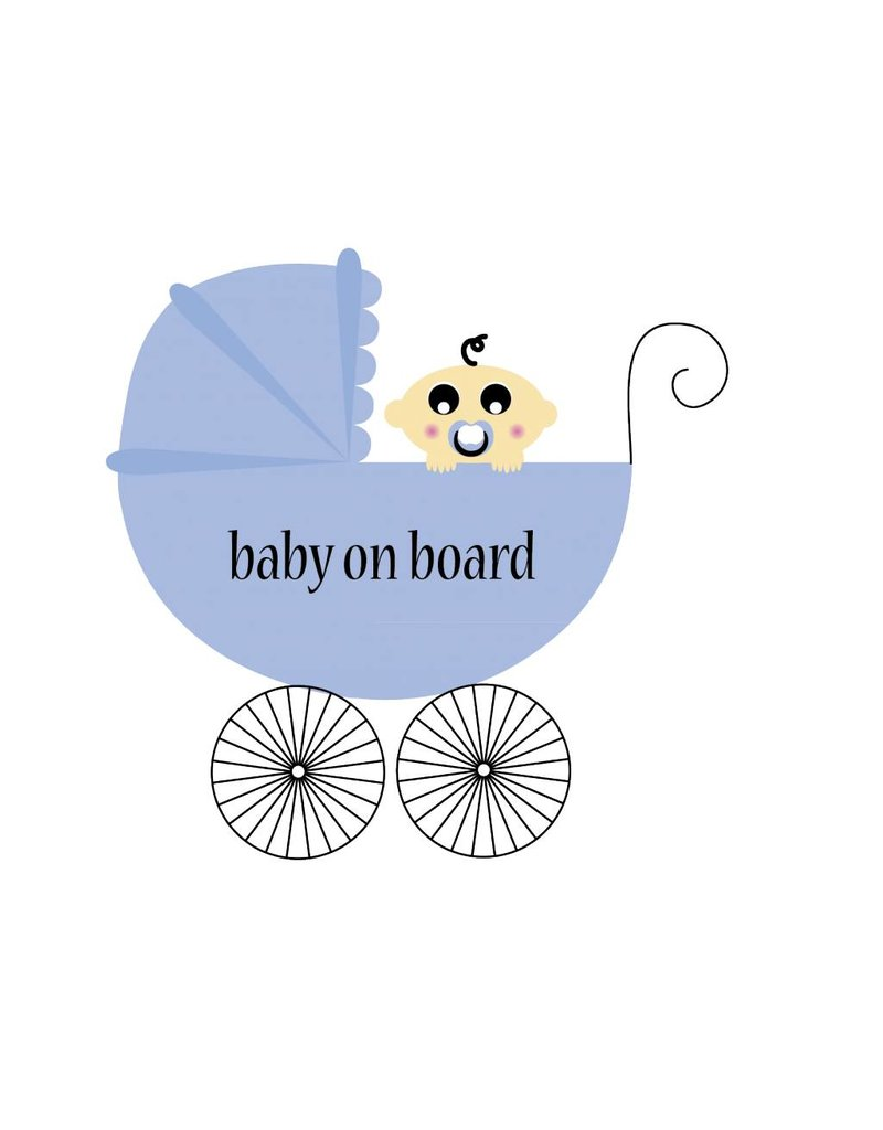 Baby on Board vierkant kinderwagen
