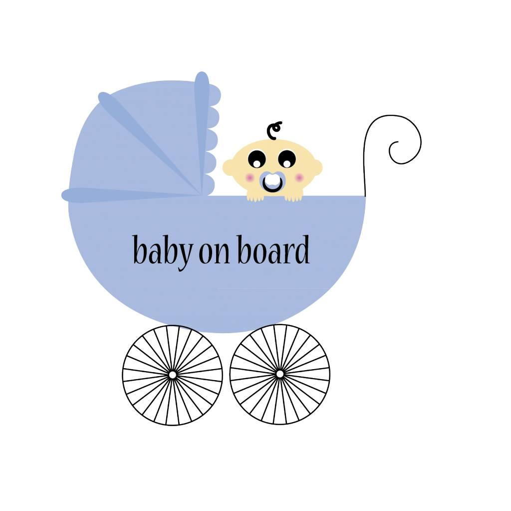 Baby on Board vierkant kinderwagen