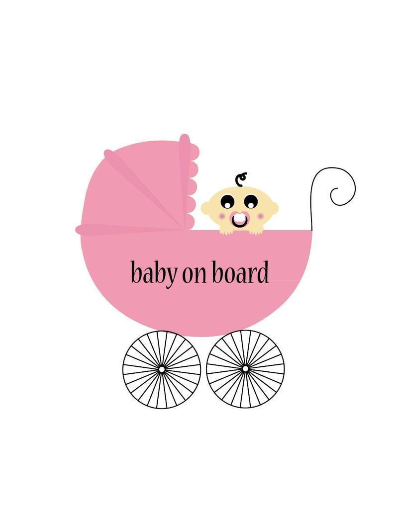 Baby on board Quadrat Mädchen