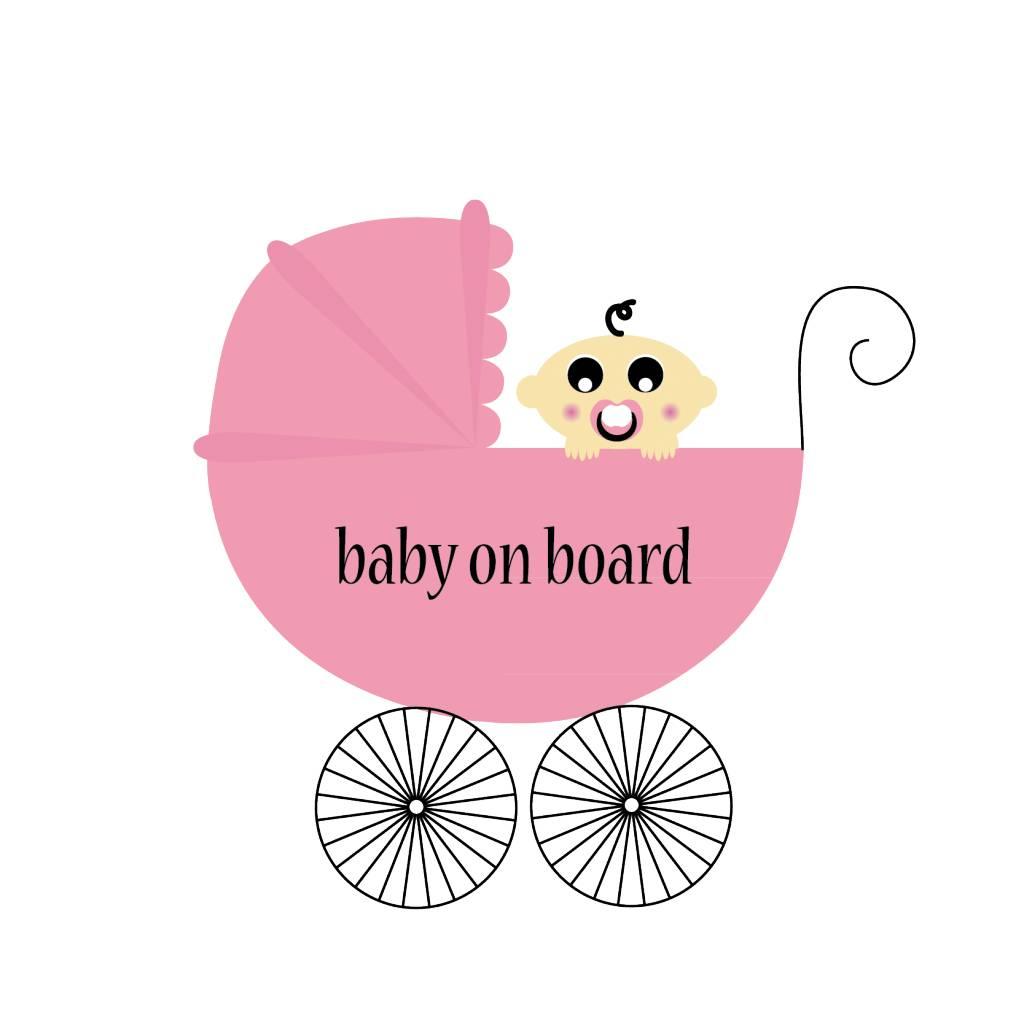 Bébé à bord bandeau fille