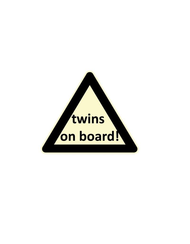 Baby on Board tríangulo gemelos