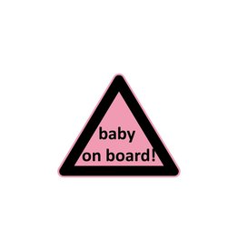 Baby on Board tríangulo chica