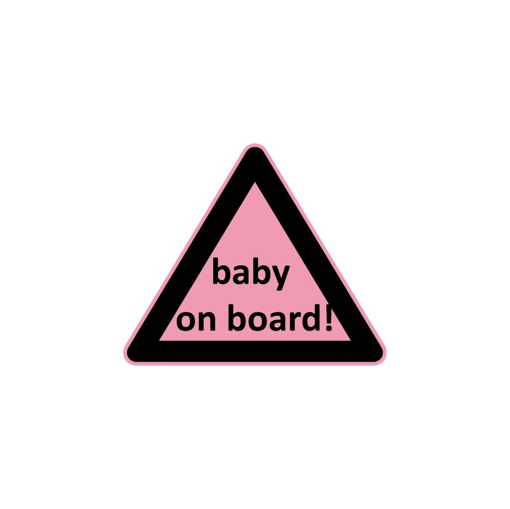 Baby on Board triangle girl