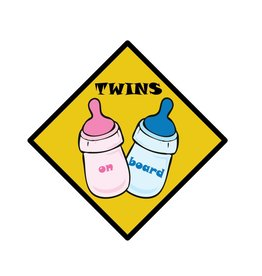 Baby on Board bottle twins