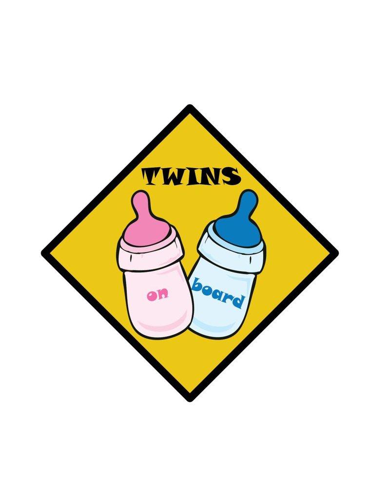 Baby on Board bottle twins