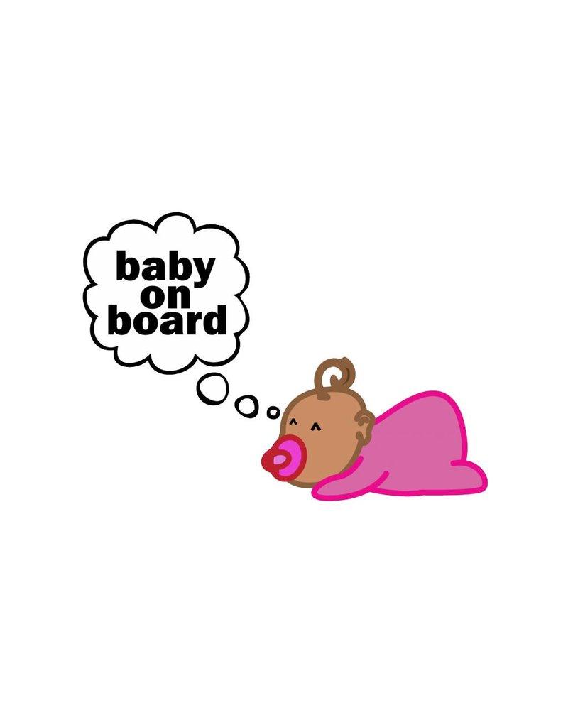 Bébé à bord dreaming baby girl