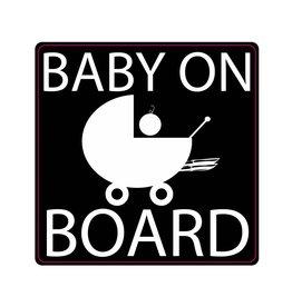 Baby on Board knalpijp kinderwagen