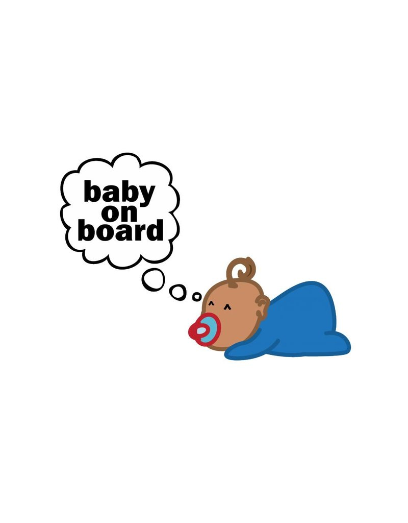 Baby on Board dreaming baby boy