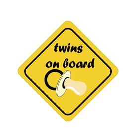 Baby on Board sticker twins