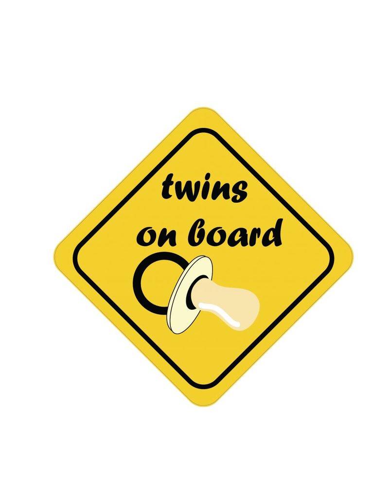 Baby on Board sticker twins