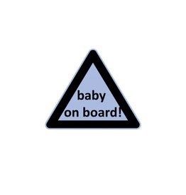 Baby on Board triangle boy sticker
