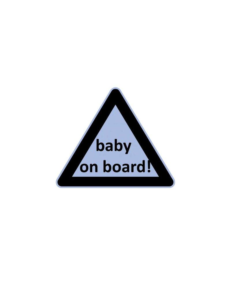 Autocollant triangle bébé à bord garçon
