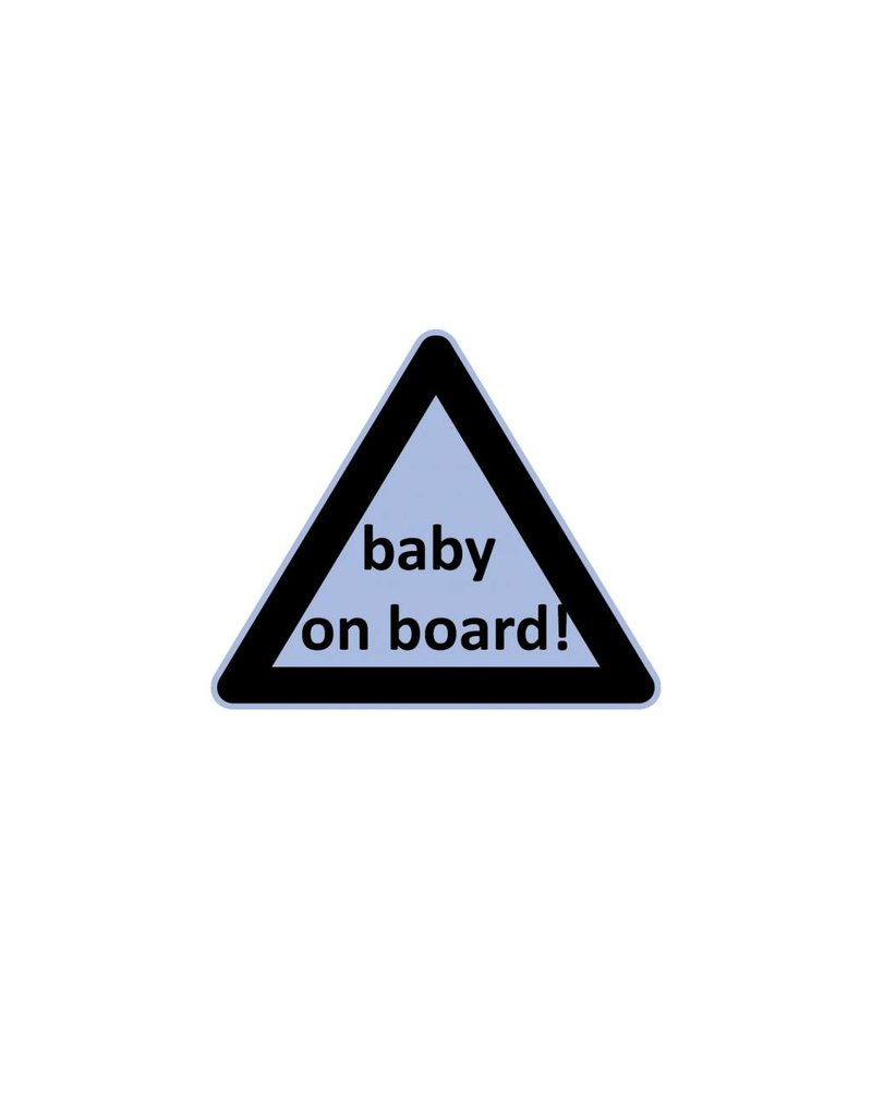 Baby on Board driehoek jongen sticker