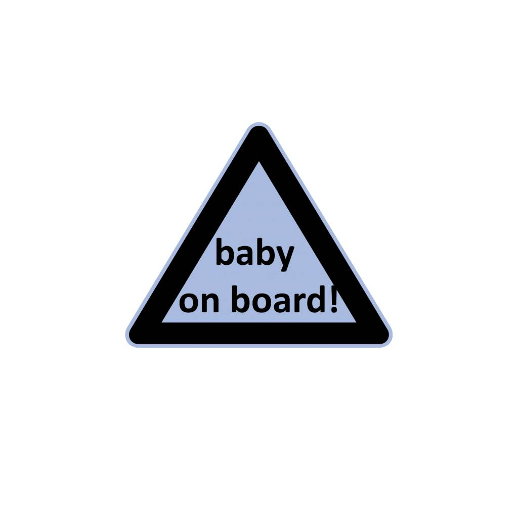 Baby on Board driehoek jongen sticker