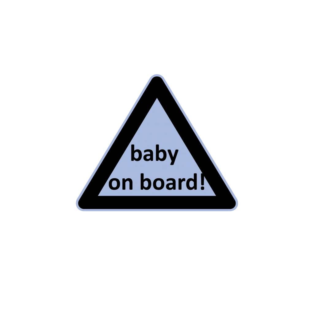 Baby on Board triangle boy sticker