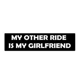 Autocollant pare-chocs my girlfriend