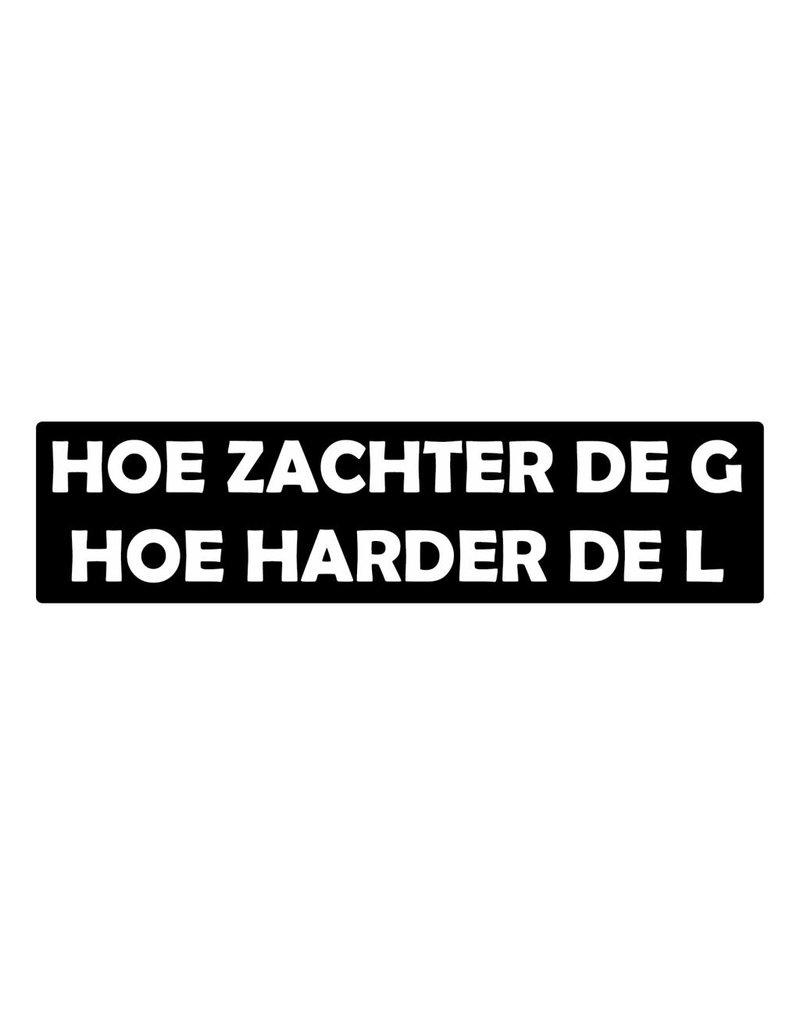 "Bumper stickers ""zachte G harde L"""