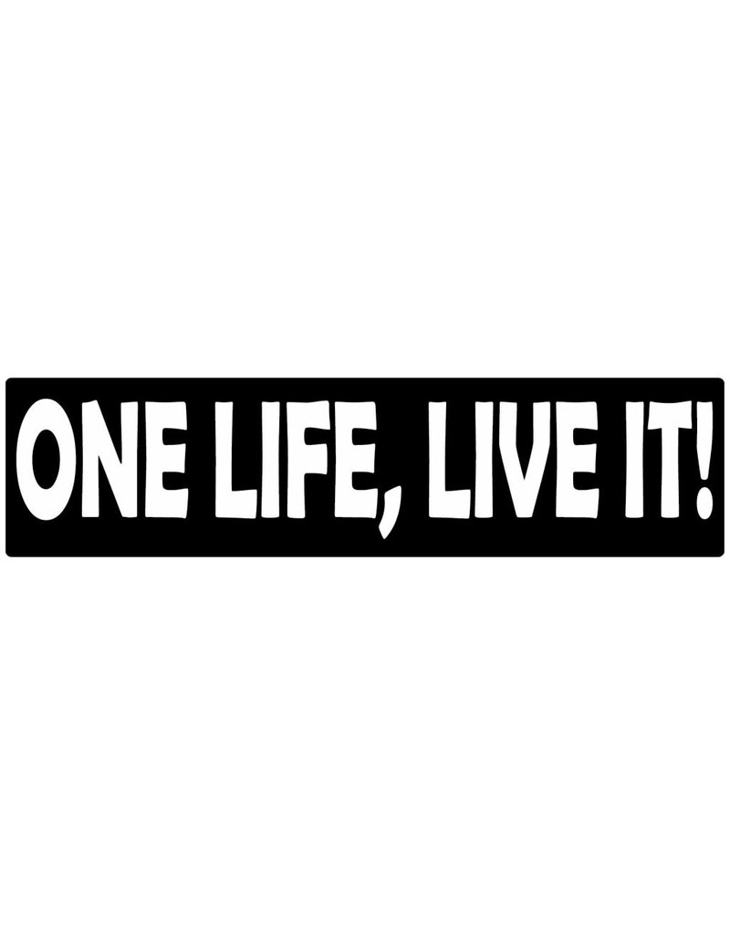 Bumper sticker one life